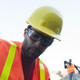 Uvex Tirade Safety Glasses Clear Anti-Fog Lens Worn With Hard Hat