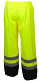 Pyramex RRWP3110 Premium Hi-Vis Rainwear Pants - Back
