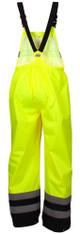 Pyramex RRWB3110 Premium Hi-Vis Rainwear Bibs with Removable Knee Pads - Back