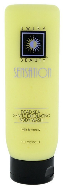 Swisa Beauty Dead Sea Gentle Exfoliating Body Wash Milk and Honey - Gentle Body Exfoliator -  Leaves The Skin Fresh, Clean and Soft With Youthful Glow.