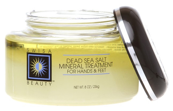 Swisa Beauty Dead Sea Salt Mineral Treatment - Exfoliating Dry and Dead Skin Efficiently and Effortlessly.