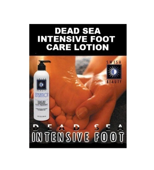 Swisa Beauty Dead Sea Intensive Foot Care Lotion - Contains Aloe Vera As The Base - Enriched With Eucalyptus Oil For Deep Penetration.