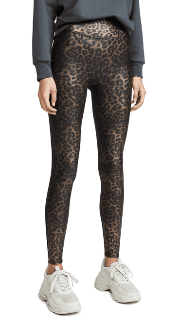 Leopard Faux Leather Leggings