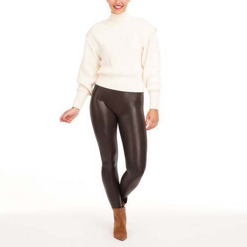 Faux Leather Croc Leggings