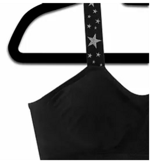 Black Bra Metallic Stars