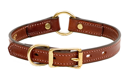 Brown Leather  Bridle Leather Hunting Collar