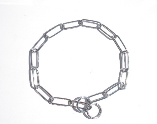 3MM Chrome Steel Fur Saver Dog Collar