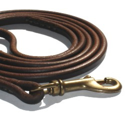 Premium Show Leash - Brown