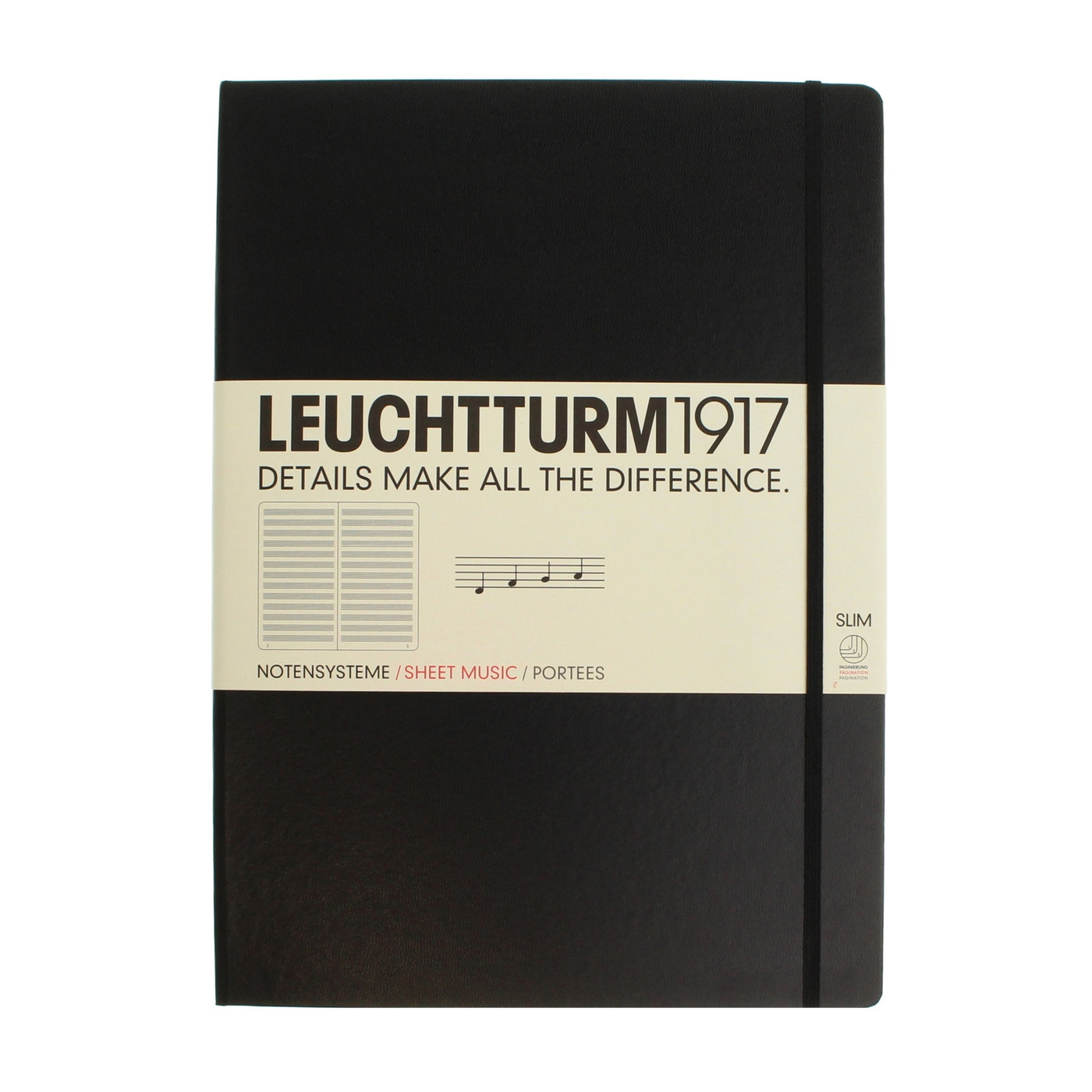 Leuchtturm1917 notebook - A4+ Slim MUSIC STAVE
