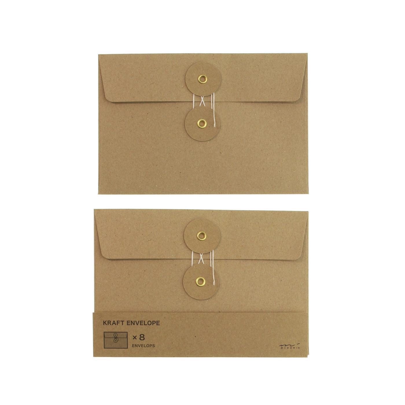 Midori Kraft envelopes - large