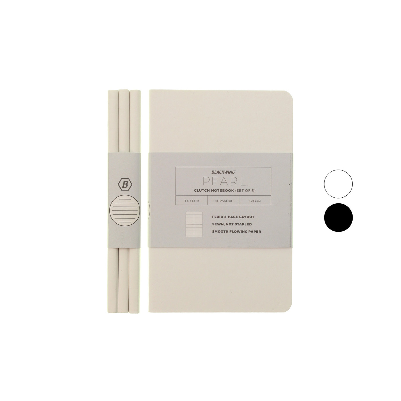 Blackwing Clutch notebooks - pack of three - A6 LINED