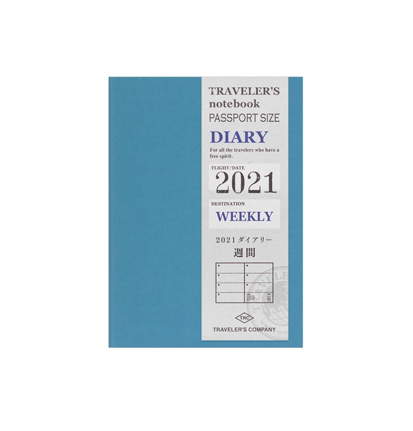 TRAVELER'S notebook 2021 weekly diary - passport size