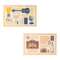 TRAVELER'S COMPANY Travel Tools - letterpress card
