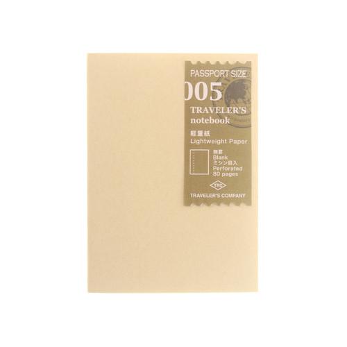 TRAVELER'S notebook 005 Lightweight Paper Passport Size