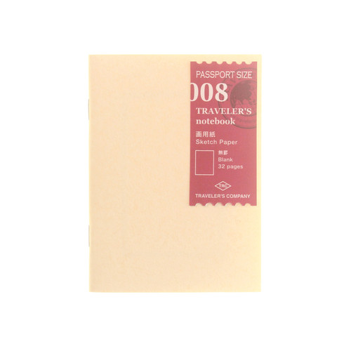 TRAVELER'S notebook 008 Sketch Paper Passport Size
