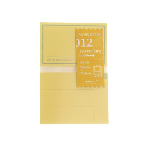 TRAVELER'S notebook 012 Sticky Notes Passport Size