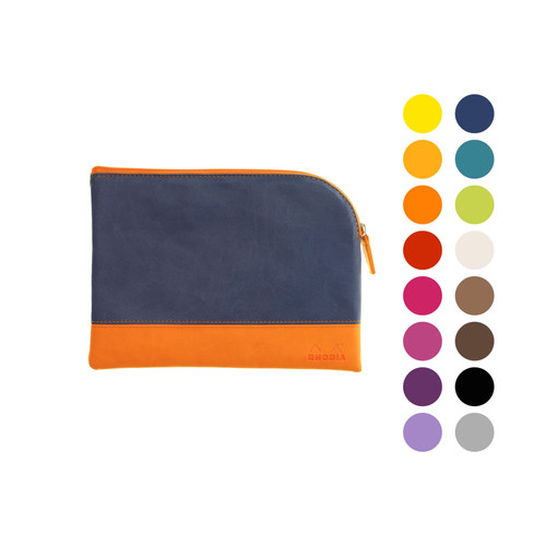 Rhodiarama zipped pouch - medium