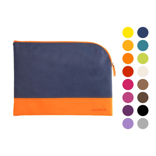 Rhodiarama zipped pouch - large