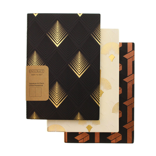 Daycraft ArtDeco notebook A5 DOTTED