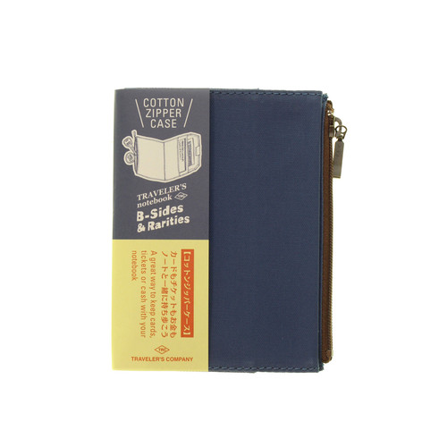 TRAVELER'S notebook B-Sides & Rarities - Cotton Zipper Case - passport size - Blue