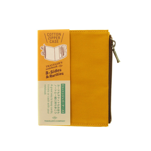 TRAVELER'S notebook B-Sides & Rarities - Cotton Zipper Case - passport size - Mustard