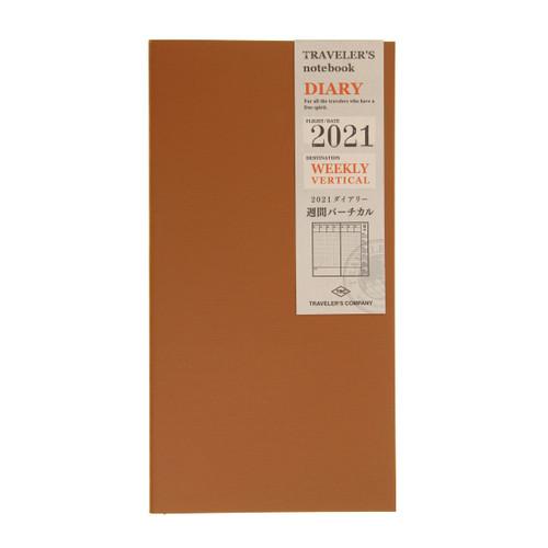 Traveler's Notebook Diary 2021 Weekly Vertical (July-December)
