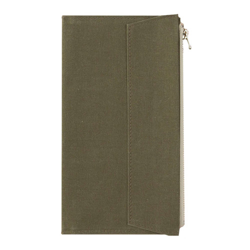 TRAVELER'S FACTORY - Paper Cloth Zipper - olive