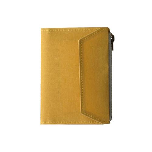 TRAVELER'S FACTORY - Paper Cloth Zipper - passport size - mustard