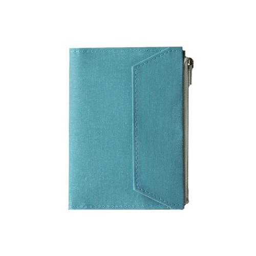 TRAVELER'S FACTORY - Paper Cloth Zipper - passport size - sky