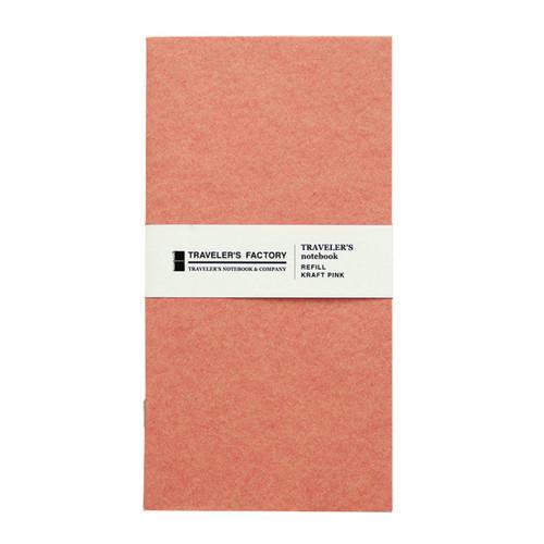 TRAVELER'S FACTORY - Traveler's Notebook refill - kraft pink