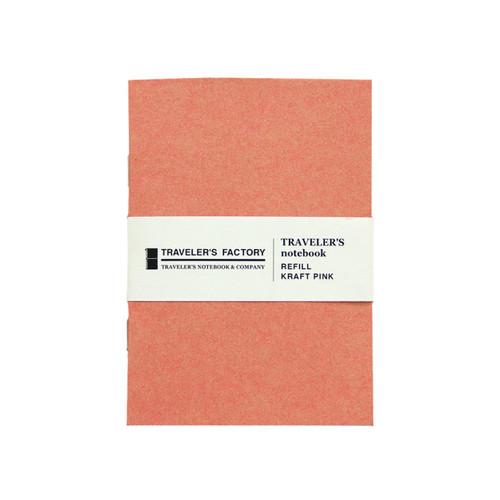 TRAVELER'S FACTORY - Traveler's Notebook refill - kraft pink - passport