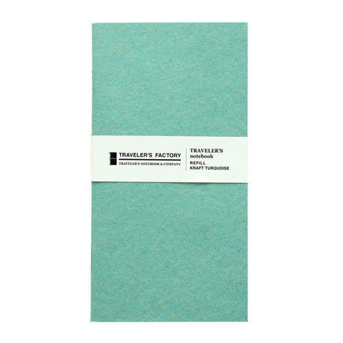 TRAVELER'S FACTORY - Traveler's Notebook refill - kraft turquoise