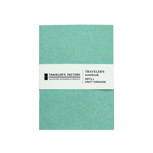 TRAVELER'S FACTORY - Traveler's Notebook refill - kraft turquoise - passport