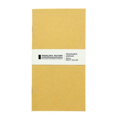 TRAVELER'S FACTORY - Traveler's Notebook refill - kraft yellow