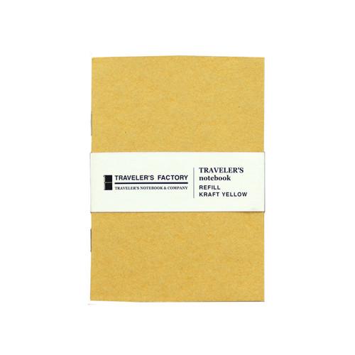 TRAVELER'S FACTORY - Traveler's Notebook refill - kraft yellow - passport