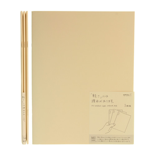 MD Paper notebook Light - A4 variant - BLANK (x3)