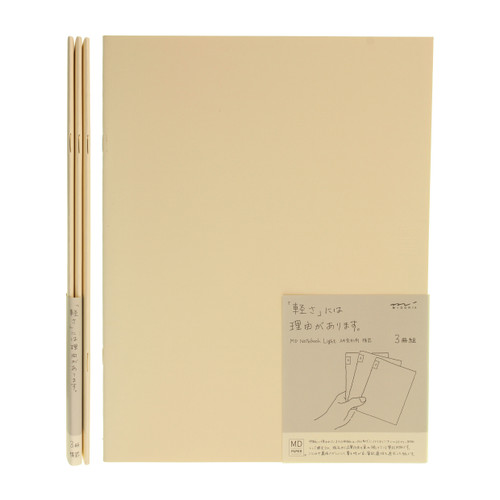 MD Paper notebook Light - A4 variant - LINED (x3)