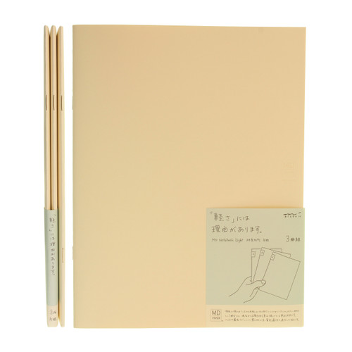 MD Paper notebook Light - A4 variant - SQUARED (x3)