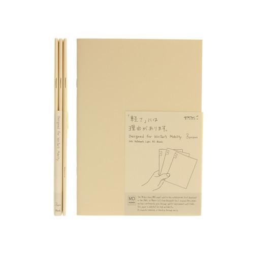MD Paper notebook Light - A5 - BLANK (x3)