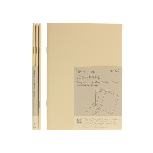 MD Paper notebook Light - A5 - LINED (x3)