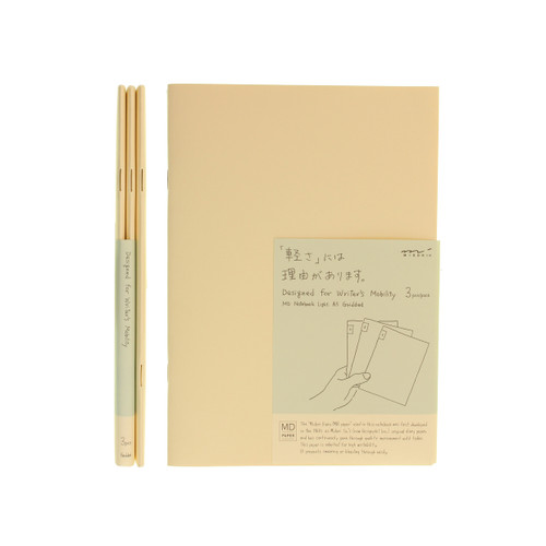 MD Paper notebook Light - A5 - SQUARED (x3)