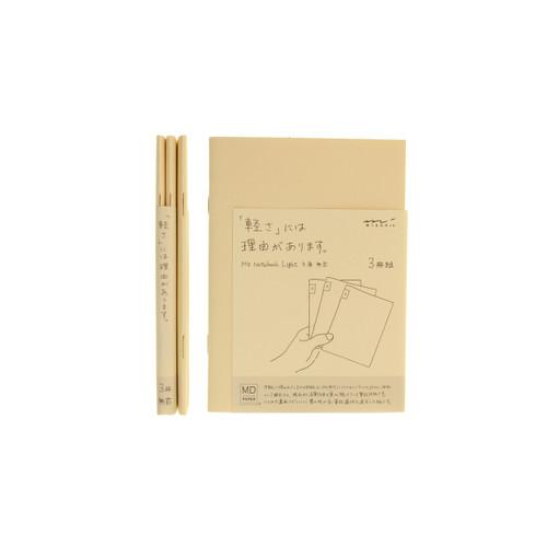 MD Paper notebook Light - A6 - BLANK (x3)