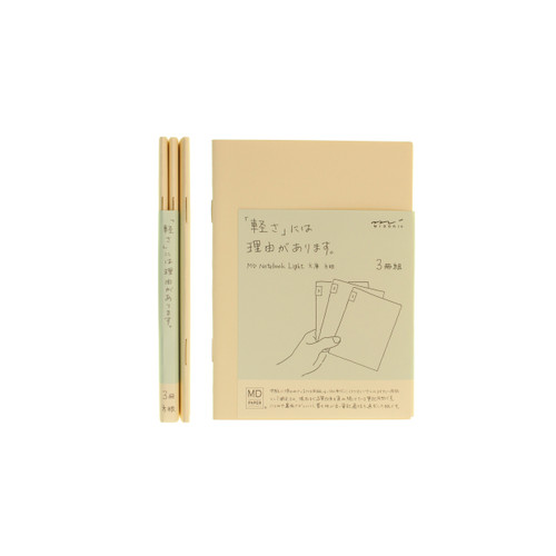 MD Paper notebook Light - A6 - SQUARED (x3)