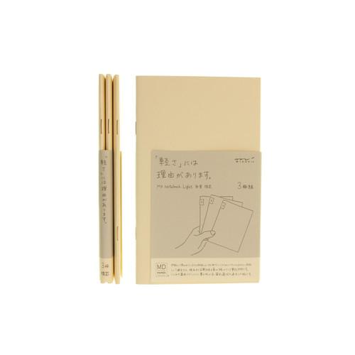 MD Paper notebook Light - B6 slim - LINED (x3)