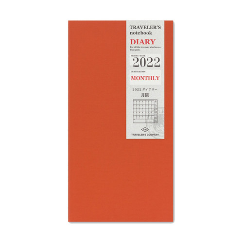 TRAVELER'S notebook 2022 monthly diary