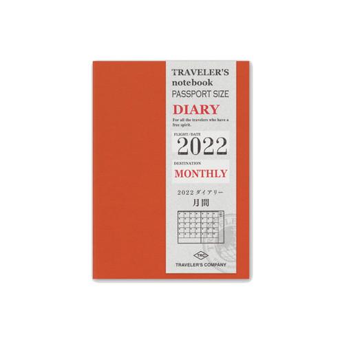 TRAVELER'S notebook 2022 monthly diary - passport size