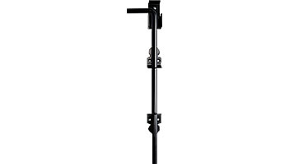 "Cane Bolt, Black - 18"", Stainless Steel,  Powder Coated Black, Lockable,"