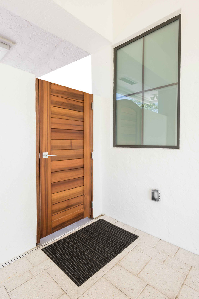 "Easy-Install Wood Gate, Moderna 42"" wide x 70"" tall"