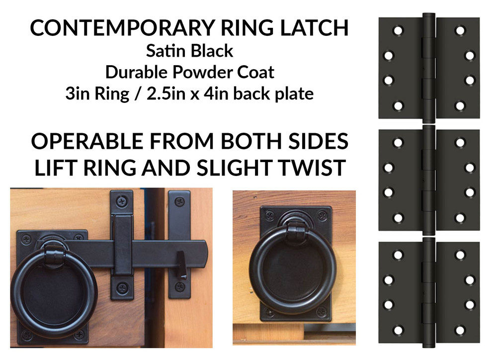 Iron Ring Pull for Double Swing Gates (included in gate price)