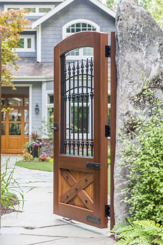 Old World Iron and Wood Gate, 42in wide x 70in tall